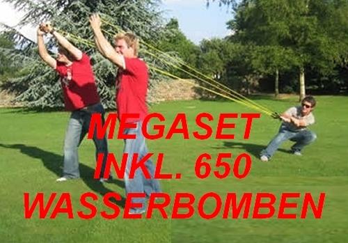 3-PERSONEN-WASSERBOMBEN-SCHLEUDER-650-BALLONS-100-M-NEU